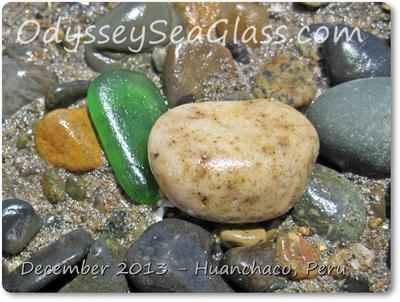 Large juicy greens aren't too uncommon in sea glass collecting