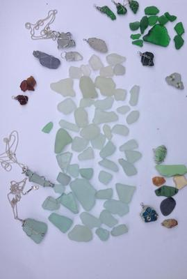 Sea Glass from UK -  Not sure if it's any good but I love it, especially the dark one!