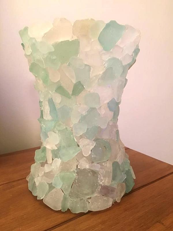DIY Sea Glass Vase Isle of Man