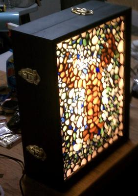 Sea Glass Lobster Light Box