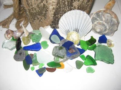 Sills Gully Beach Sea Glass, Shoreham, New York