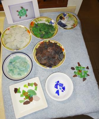 Sea Glass and Sea Pottery of July
