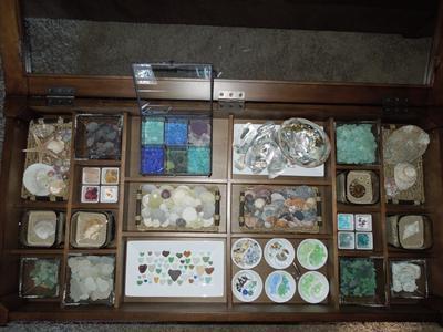 Table of Treasures - January 2013 Sea Glass Photo Contest