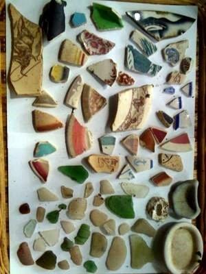 San Francisco Bay - Crockery shards & beach glass