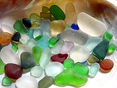 Sea glass from Waikiki, Hawaii