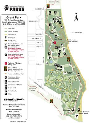 Map of Grant Park